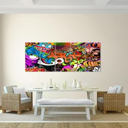 Graffiti Street Art BILD KUNSTDRUCK  - AUF VLIES LEINWAND - XXL DEKORATION  402155P  Bild 3
