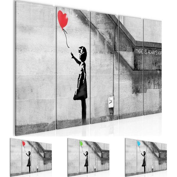 Banksy - Ballon Girl BILD KUNSTDRUCK  - AUF VLIES LEINWAND - XXL DEKORATION  301655P