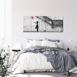 Banksy - Ballon Girl BILD KUNSTDRUCK  - AUF VLIES LEINWAND - XXL DEKORATION  301655P  Bild 3