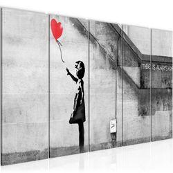 Banksy - Ballon Girl BILD KUNSTDRUCK  - AUF VLIES LEINWAND - XXL DEKORATION  301655P  Bild 2