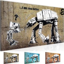 Banksy - I am your Father Street Art BILD KUNSTDRUCK  - AUF VLIES LEINWAND - XXL DEKORATION  302012P  Bild 1