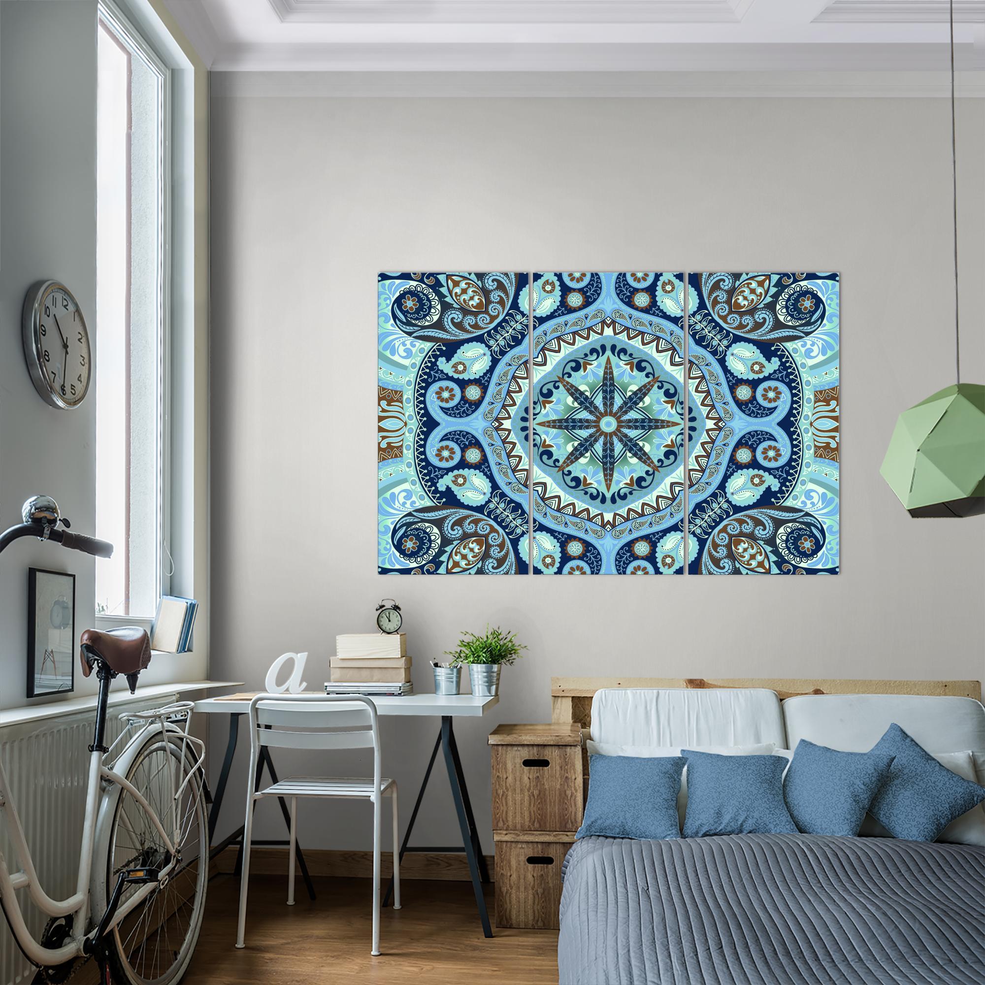 mandala abstrakt bild kunstdruck  auf vlies leinwand