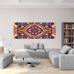 Mandala Abstrakt BILD KUNSTDRUCK  - AUF VLIES LEINWAND - XXL DEKORATION  506755P  Bild 5
