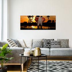Afrika Elefant BILD KUNSTDRUCK  - AUF VLIES LEINWAND - XXL DEKORATION  001912P  Bild 7
