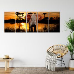 Afrika Elefant BILD KUNSTDRUCK  - AUF VLIES LEINWAND - XXL DEKORATION  001955P  Bild 6