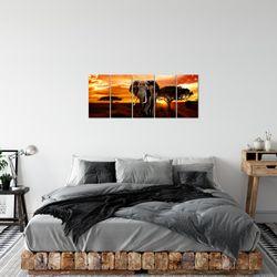 Afrika Elefant BILD KUNSTDRUCK  - AUF VLIES LEINWAND - XXL DEKORATION  001212P  Bild 3