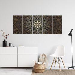Mandala Abstrakt BILD KUNSTDRUCK  - AUF VLIES LEINWAND - XXL DEKORATION  107455P  Bild 4