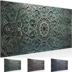 Mandala Abstrakt BILD KUNSTDRUCK  - AUF VLIES LEINWAND - XXL DEKORATION  109412P  Bild 1