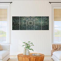 Mandala Abstrakt BILD KUNSTDRUCK  - AUF VLIES LEINWAND - XXL DEKORATION  109455P  Bild 6