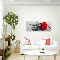 Blumen Rose BILD KUNSTDRUCK  - AUF VLIES LEINWAND - XXL DEKORATION  204412P  Bild 4