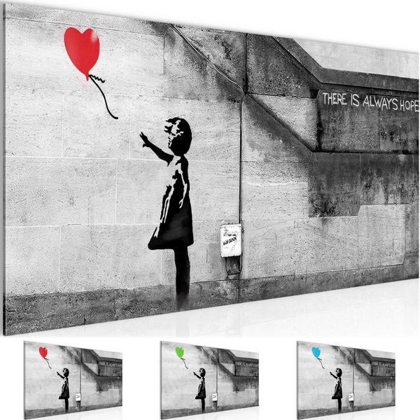 Banksy - Ballon Girl BILD KUNSTDRUCK  - AUF VLIES LEINWAND - XXL DEKORATION  301612P