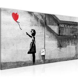 Banksy - Ballon Girl BILD KUNSTDRUCK  - AUF VLIES LEINWAND - XXL DEKORATION  301612P  Bild 2