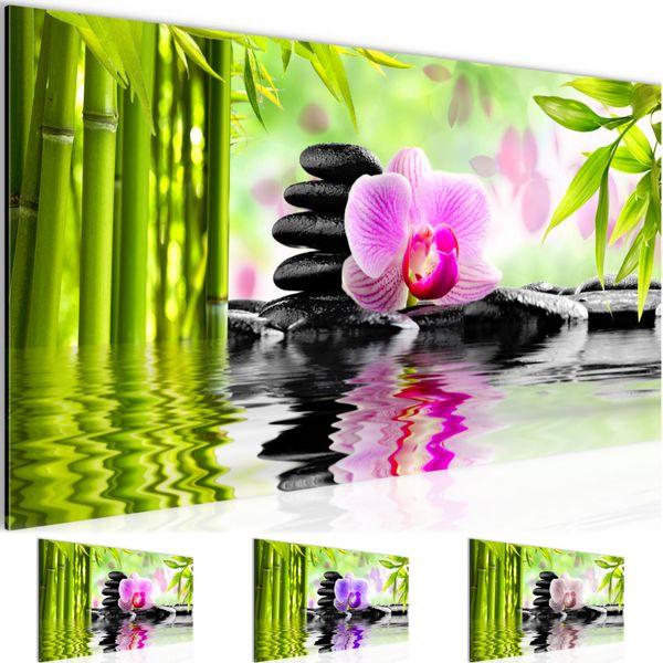 Orchidee Feng Shui BILD KUNSTDRUCK  - AUF VLIES LEINWAND - XXL DEKORATION  502012P