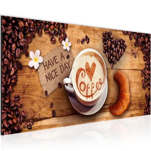 Kaffee Coffee BILD KUNSTDRUCK  - AUF VLIES LEINWAND - XXL DEKORATION  501212P