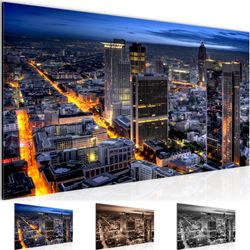 Frankfurt am Main BILD KUNSTDRUCK  - AUF VLIES LEINWAND - XXL DEKORATION  608912P  Bild 1