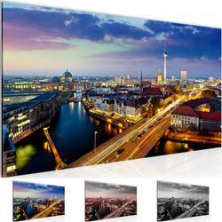 Stadt Berlin BILD KUNSTDRUCK  - AUF VLIES LEINWAND - XXL DEKORATION  605112P  Bild 1