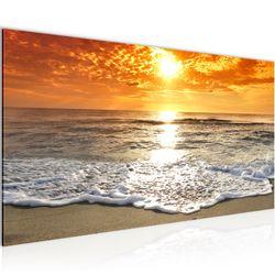 Sonnenaufgang Strand BILD KUNSTDRUCK  - AUF VLIES LEINWAND - XXL DEKORATION  600012P  Bild 2