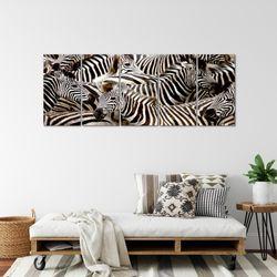 Afrika Zebra BILD KUNSTDRUCK  - AUF VLIES LEINWAND - XXL DEKORATION  000855P  Bild 4