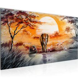 Afrika Elefant BILD KUNSTDRUCK  - AUF VLIES LEINWAND - XXL DEKORATION  001112P  Bild 2