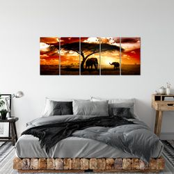 Afrika Sonnenuntergang BILD KUNSTDRUCK  - AUF VLIES LEINWAND - XXL DEKORATION  001555P  Bild 3