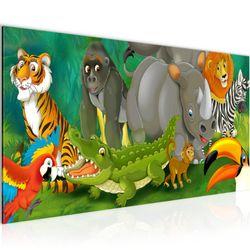 Afrika Tiere BILD KUNSTDRUCK  - AUF VLIES LEINWAND - XXL DEKORATION  001812P  Bild 2