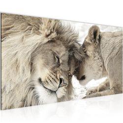 Löwen Liebe BILD KUNSTDRUCK  - AUF VLIES LEINWAND - XXL DEKORATION  002112P  Bild 1