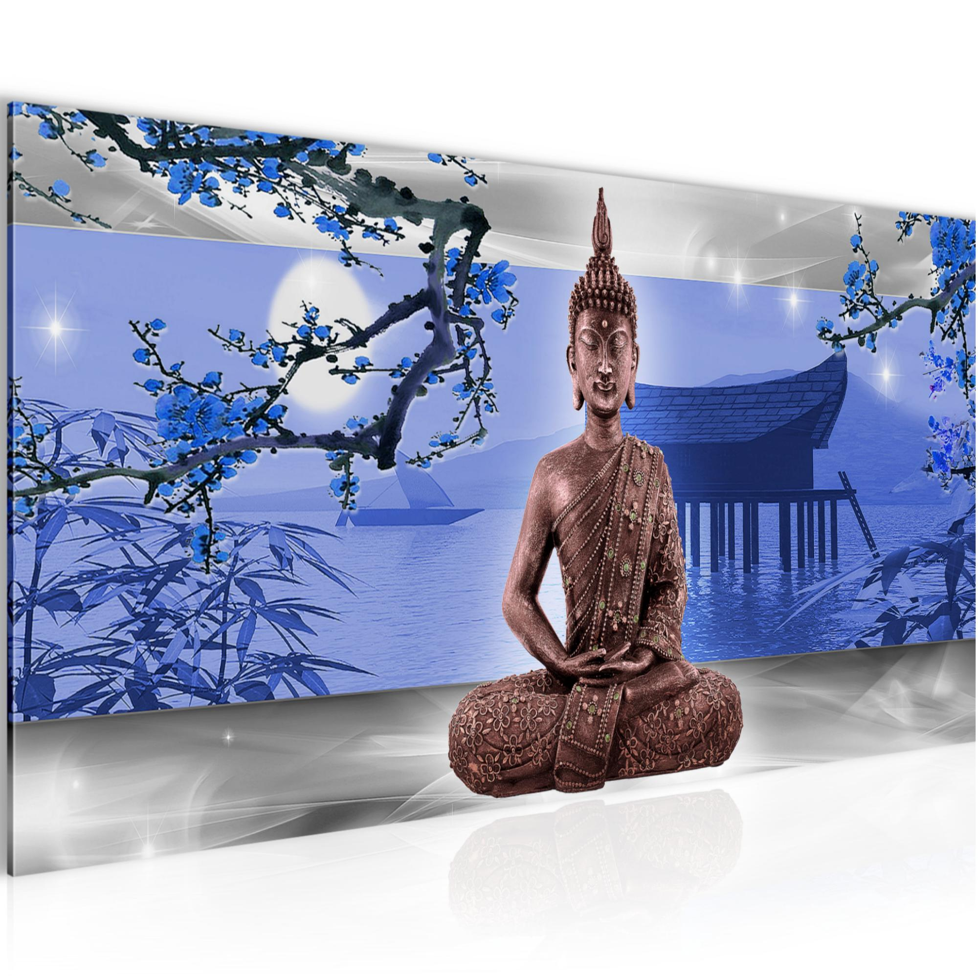 buddha feng shui bild kunstdruck auf vlies leinwand xxl dekoration 504912p. Black Bedroom Furniture Sets. Home Design Ideas