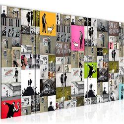 Collage Banksy Street Art BILD KUNSTDRUCK  - AUF VLIES LEINWAND - XXL DEKORATION  302755P  Bild 2