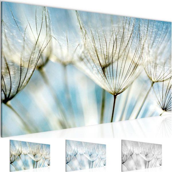Blumen Pusteblume BILD KUNSTDRUCK  - AUF VLIES LEINWAND - XXL DEKORATION  209812P