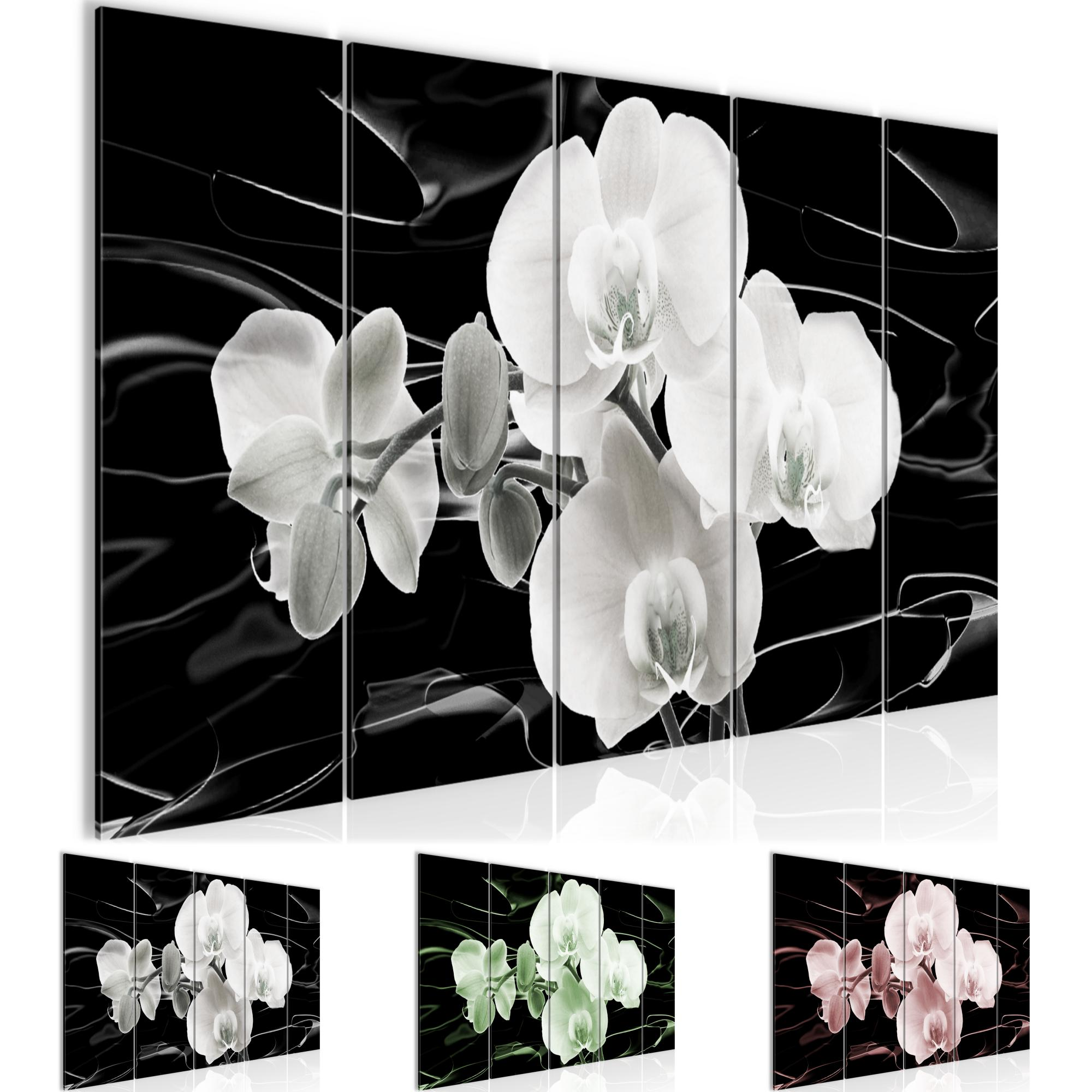 Deko Kunstdruck Leinwand aus Vlies Blumen Orchidee Bild Bilder Wandbild XXL