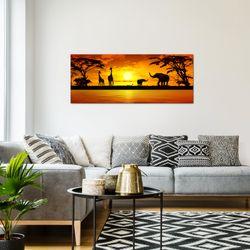 Afrika Sonnenuntergang BILD KUNSTDRUCK  - AUF VLIES LEINWAND - XXL DEKORATION  000212P  Bild 7