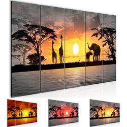 Afrika Sonnenuntergang BILD KUNSTDRUCK  - AUF VLIES LEINWAND - XXL DEKORATION  000255P  Bild 1
