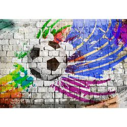 Graffiti Fussball VLIES FOTO WANDTAPETE - XXL DEKORATION RUNA  9021bP  Bild 6