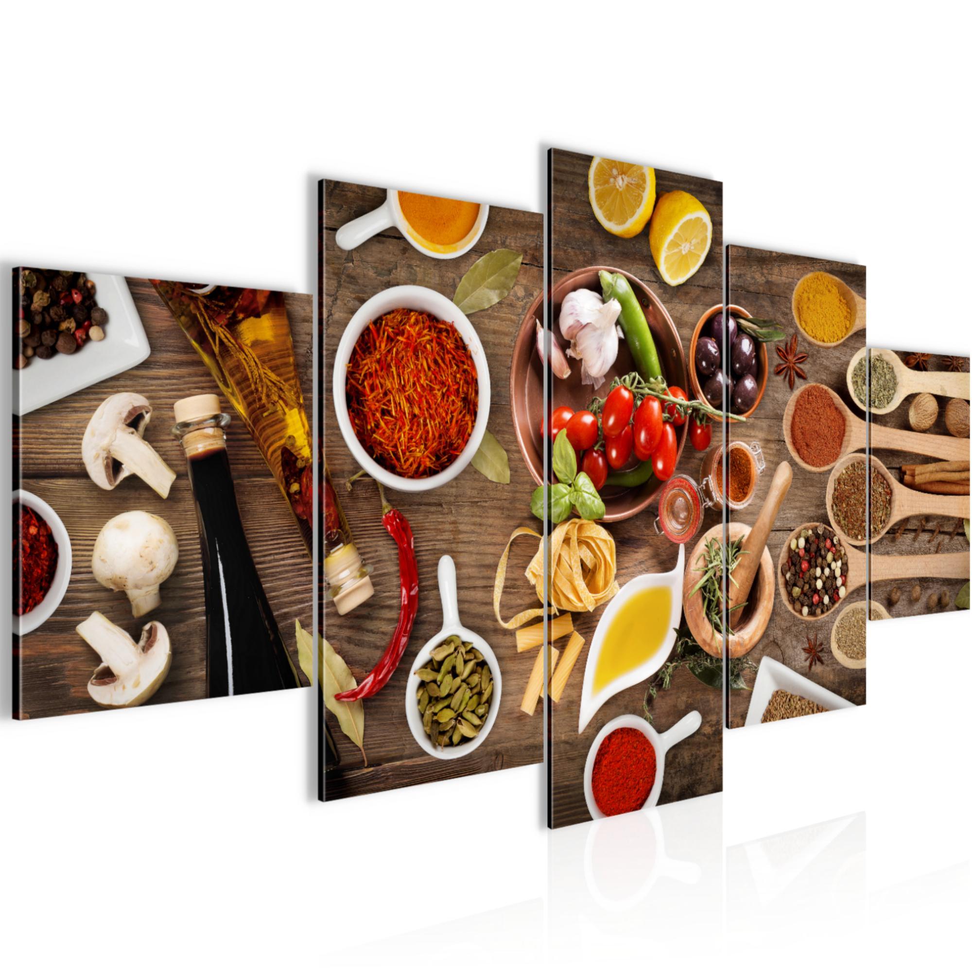 Küche - Gewürze BILD KUNSTDRUCK - AUF VLIES LEINWAND - XXL DEKORATION 00315P