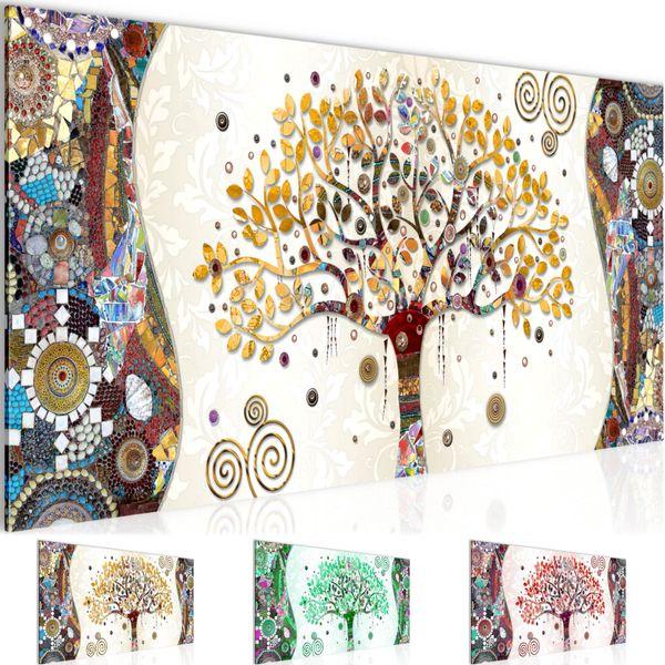 Gustav Klimt - Baum des Lebens BILD KUNSTDRUCK  - AUF VLIES LEINWAND - XXL DEKORATION  004612P