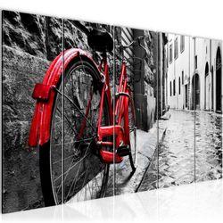Rotes Fahrrad BILD KUNSTDRUCK  - AUF VLIES LEINWAND - XXL DEKORATION  004755P  Bild 2