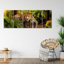 Afrika Leopard BILD KUNSTDRUCK  - AUF VLIES LEINWAND - XXL DEKORATION  003555P  Bild 6