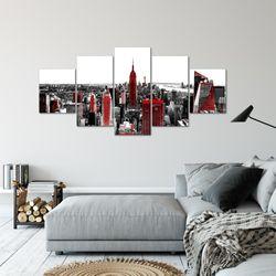 New York Stadt BILD KUNSTDRUCK  - AUF VLIES LEINWAND - XXL DEKORATION  00375P  Bild 6