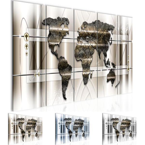 Weltkarte Abstrakt BILD KUNSTDRUCK  - AUF VLIES LEINWAND - XXL DEKORATION  005155P