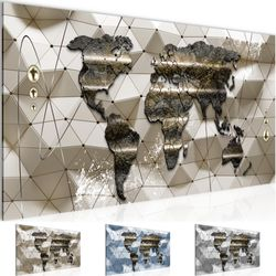 Weltkarte BILD KUNSTDRUCK  - AUF VLIES LEINWAND - XXL DEKORATION  005212P  Bild 1