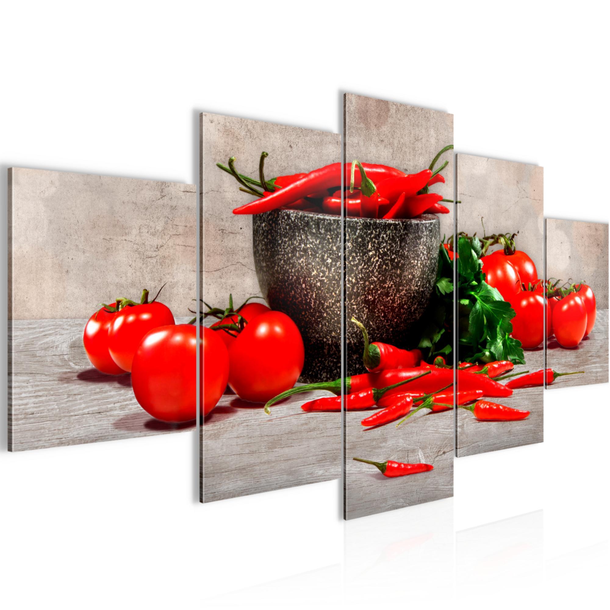 Küche - Gemüse BILD KUNSTDRUCK - AUF VLIES LEINWAND - XXL DEKORATION 00585P
