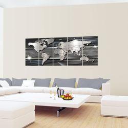 Weltkarte World map BILD KUNSTDRUCK  - AUF VLIES LEINWAND - XXL DEKORATION  107955P  Bild 4