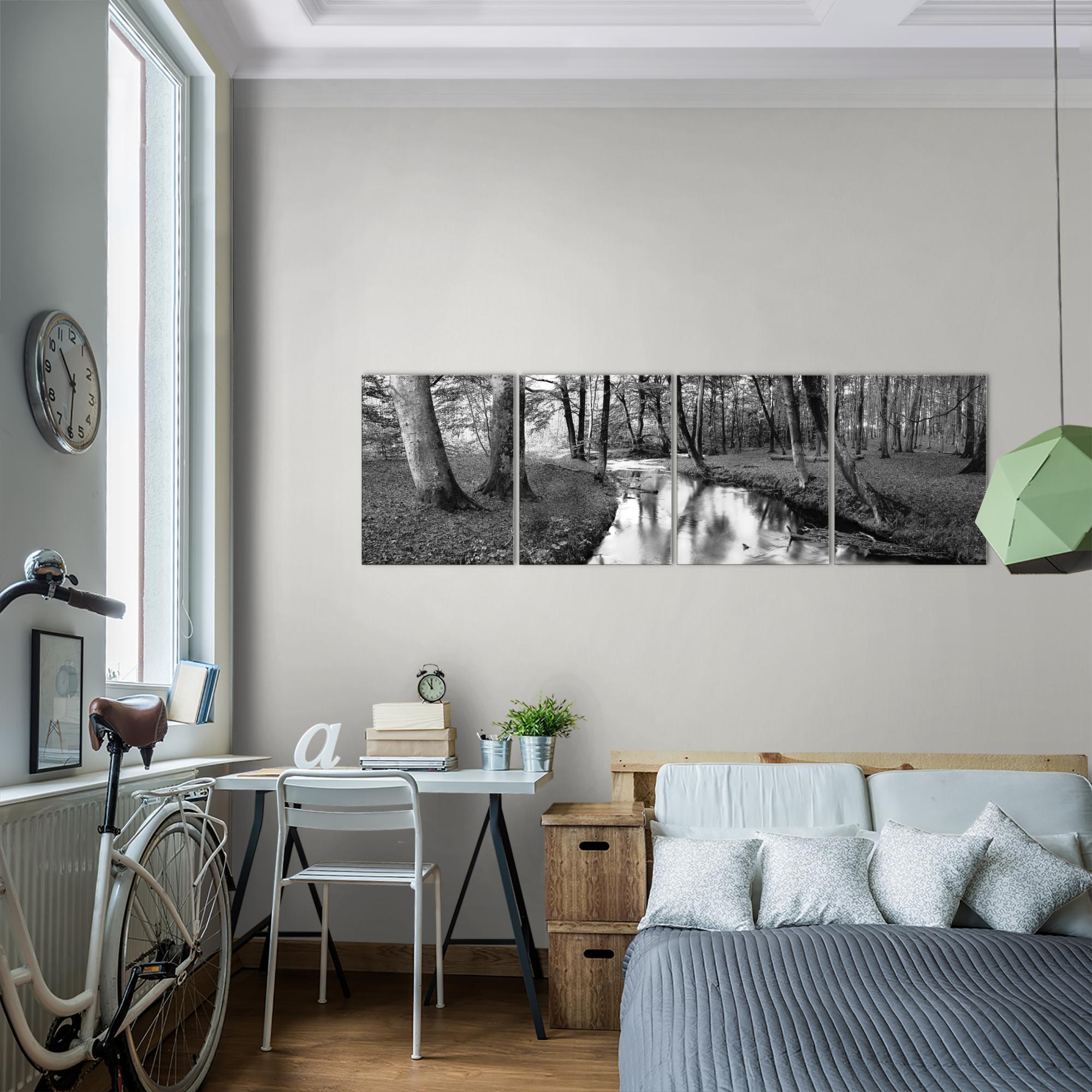 wald bild kunstdruck auf vlies leinwand xxl dekoration 602346p. Black Bedroom Furniture Sets. Home Design Ideas