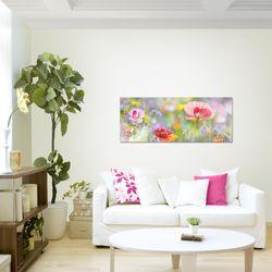 Blumen Mohnblume BILD KUNSTDRUCK  - AUF VLIES LEINWAND - XXL DEKORATION  007512P  Bild 3