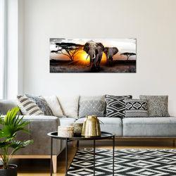 Afrika Elefant BILD KUNSTDRUCK  - AUF VLIES LEINWAND - XXL DEKORATION  007612P  Bild 7