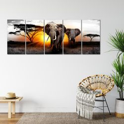 Afrika Elefant BILD KUNSTDRUCK  - AUF VLIES LEINWAND - XXL DEKORATION  007655P  Bild 6