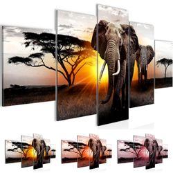 Afrika Elefant BILD KUNSTDRUCK  - AUF VLIES LEINWAND - XXL DEKORATION  00765P  Bild 1