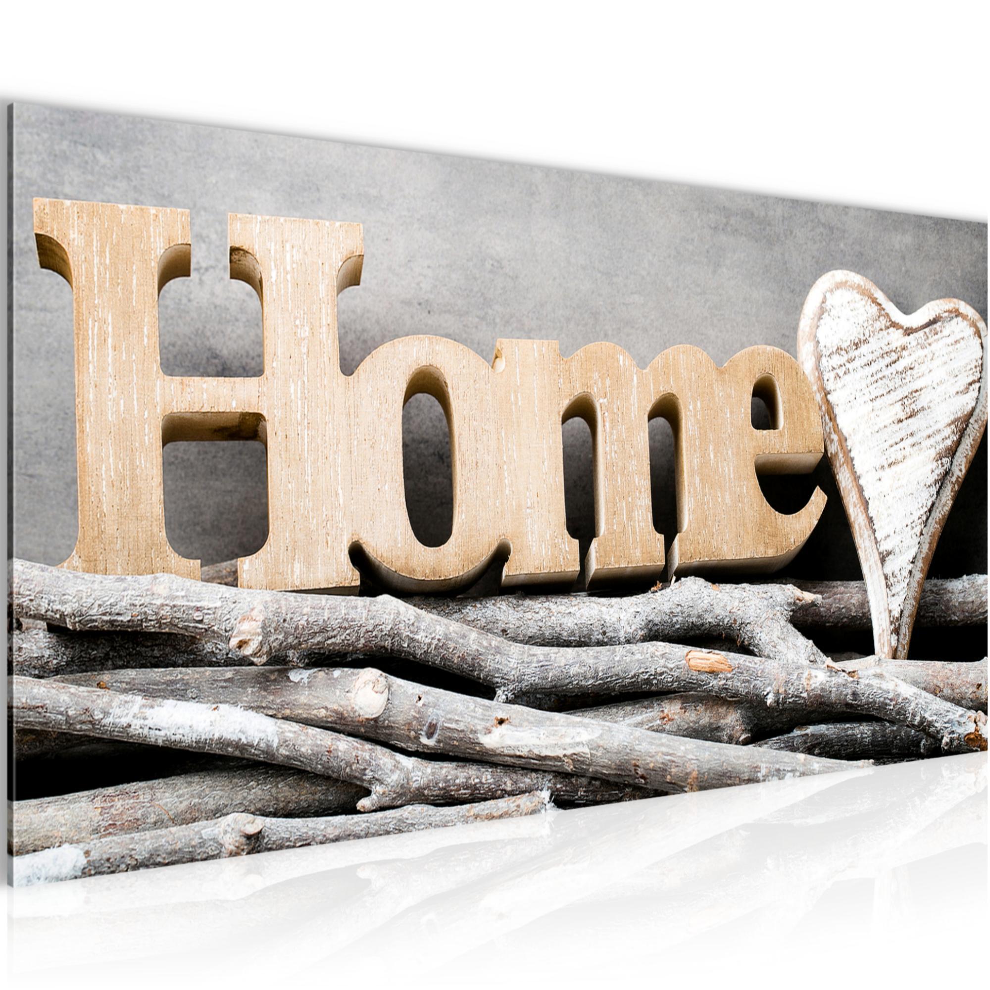 WANDBILDER XXL BILDER Home Herz VLIES LEINWAND BILD KUNSTDRUCK 009512P