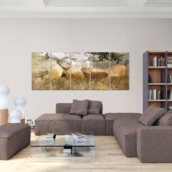 Natur Hirsche BILD KUNSTDRUCK  - AUF VLIES LEINWAND - XXL DEKORATION  011455P  Bild 5