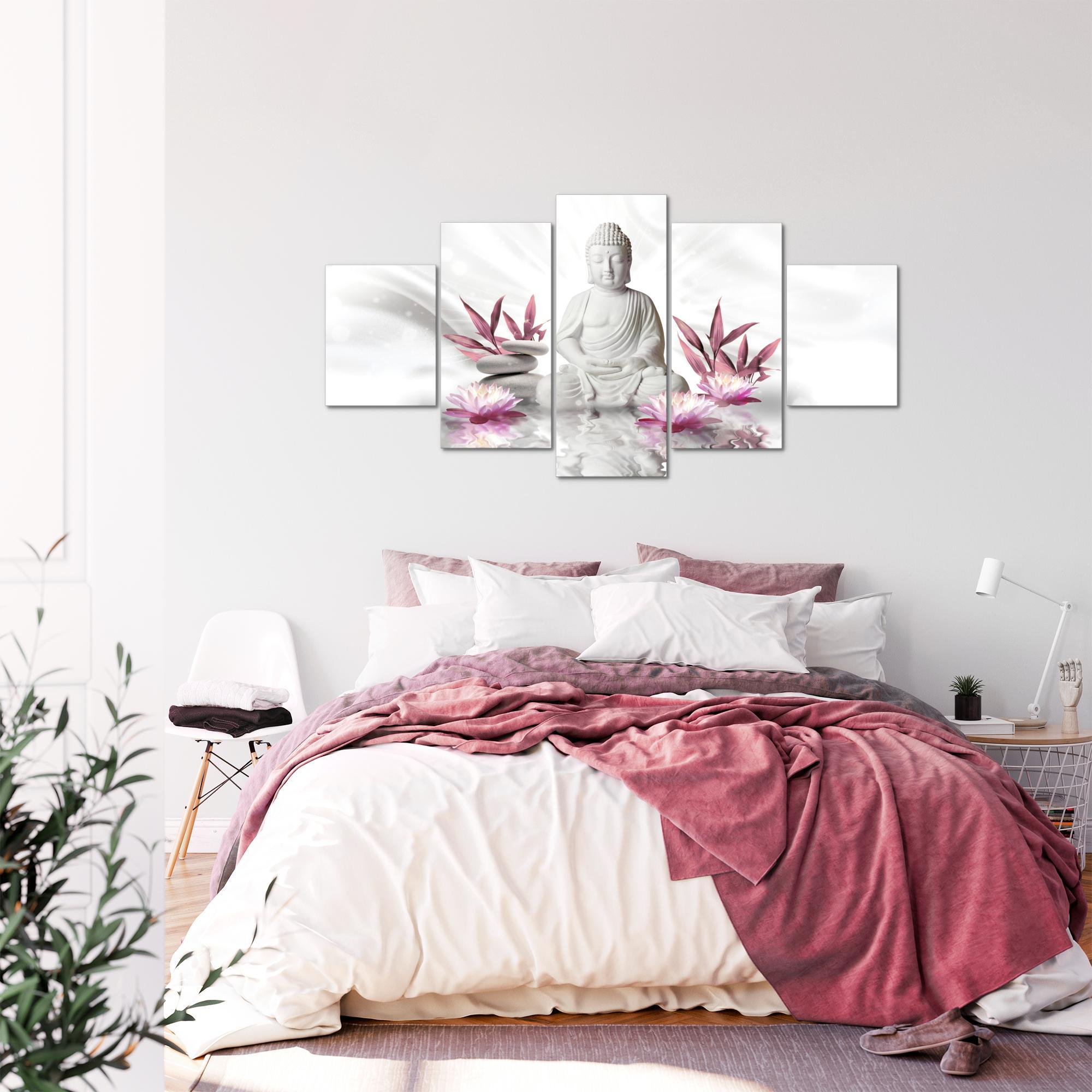 buddha feng shui bild kunstdruck auf vlies leinwand xxl dekoration 01165p. Black Bedroom Furniture Sets. Home Design Ideas
